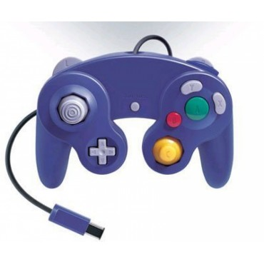 GAMECUBE CONTROLLER FOR WII AND GAMECUBE PURPLE COLOR