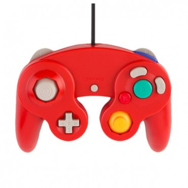 GAMECUBE CONTROLLER FOR WII AND GAMECUBE RED COLOR