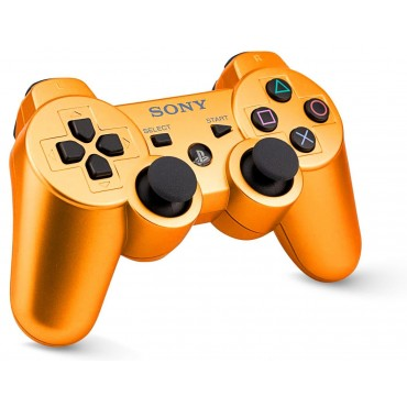 PS3 CONTROLLER GLOSSY YELLOW ORANGE