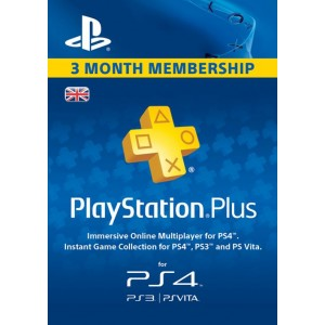 PSN PLAYSTATION PLUS 3 MONTHS / UK