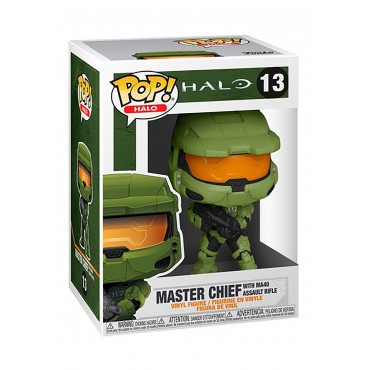 Funko POP! Halo: Halo Infinite - Master Chief with MA40 Assault Rifle #13 Vinyl Figure