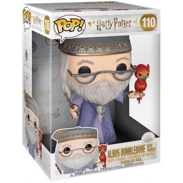 Funko POP! Harry Potter: Wizarding World - Albus Dumbledore with Fawkes (25cm) #110 Vinyl Figure