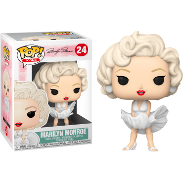 Funko POP! Icons: Marilyn Monroe (White Dress) #24 Vinyl Figure