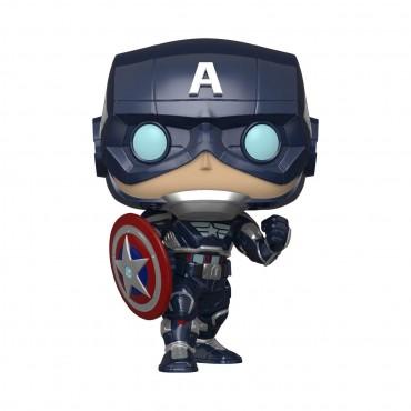 Funko POP! Marvel: Avengers Gameverse - Captain America (Stark Tech Suit) #627