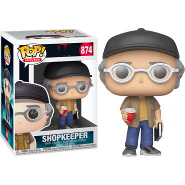 Funko POP! Movies: IT Chapter 2 - Shopkeeper (Stephen King) #874 Vinyl Figure