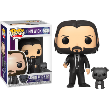 Funko POP! Movies: John Wick - John Wick With Dog #580 Vinyl Figure