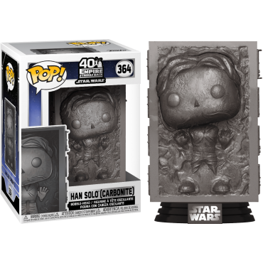 Funko POP! Star Wars: Empire Strikes Back 40 Years - Han Solo (Carbonite) #364 Bobble-Head Vinyl Figure