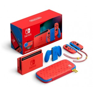 Nintendo Switch Mario Red & Blue Edition Console + Case