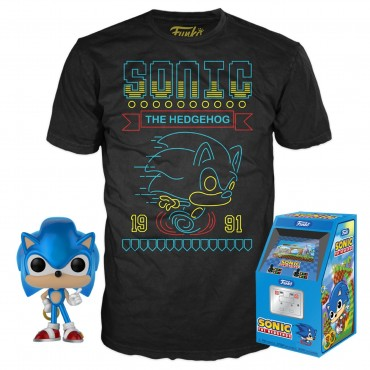 Funko POP & Tee: Sonic the Hedgehog - M