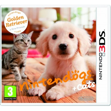3DS NINTENDOGS GOLDEN RETRIEVER & NEW FRIENDS