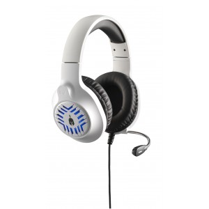 Spartan Gear -Medusa Wired Headset(compatible PC, playstation 4 & 5,xbox1 & series X.nsw)White/Black