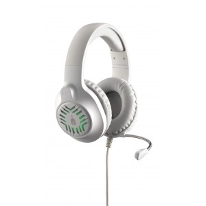 Spartan Gear -Medusa Wired Headset(compatible PC, playstation 4 & 5,xbox1 & series X.nsw)White/Grey