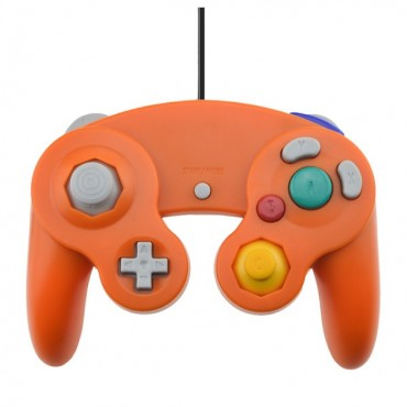 GAMECUBE CONTROLLER FOR WII AND GAMECUBE ORANGE COLOR
