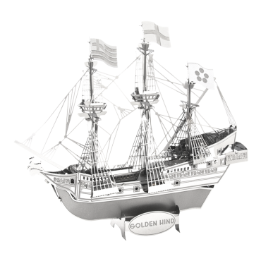 Golden Hind Metal Earth Silver Edition Scale Model