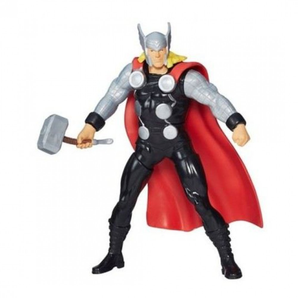 """MARVEL THOR 7"""" HIGH PUSH ACTION FIGURE BY HASBRO"""