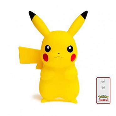 POKEMON PIKACHU LED LAMPA AR PULTI