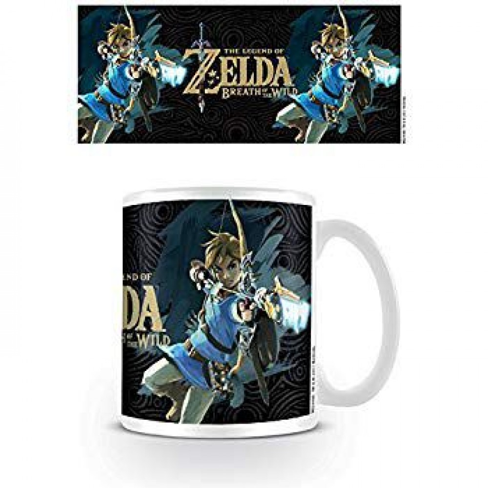 THE LEGEND OF ZELDA BREATH OF THE WILD GAME COVER COFFEE MUG
