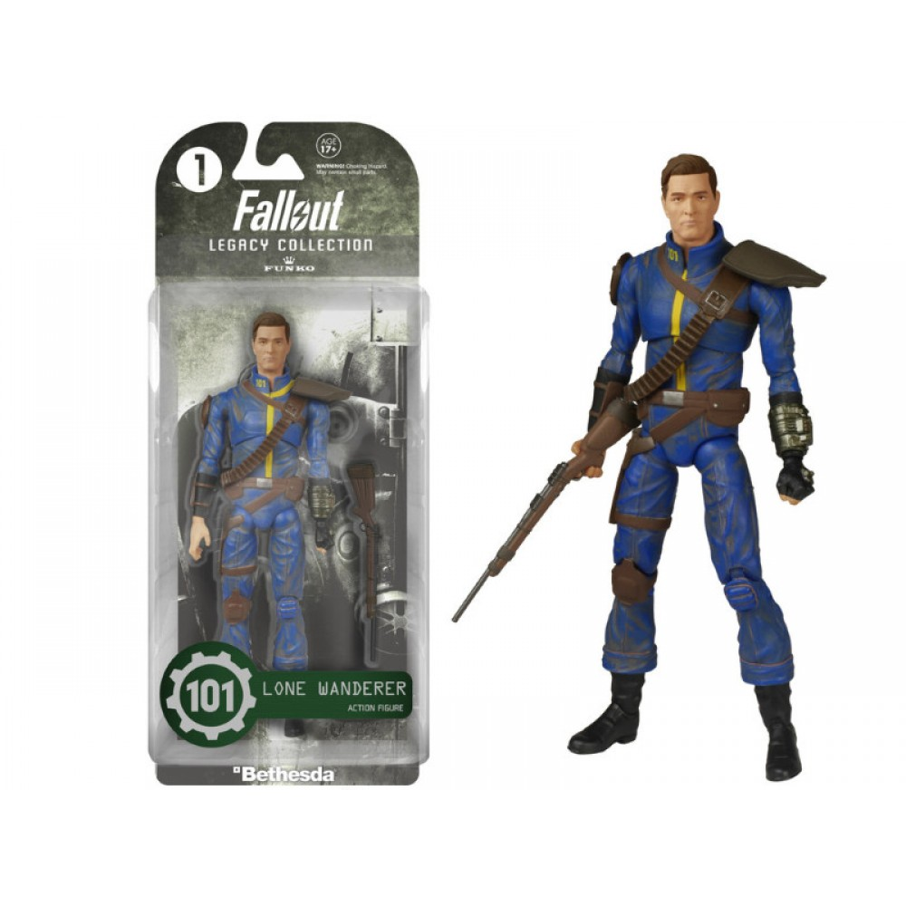 FUNKO LEGACY COLLECTION: FALLOUT - LONE WANDERER #1 ACTION FIGURE (15cm)