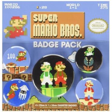 Nintendo - Super Mario Bros. (Retro) Badge Pack