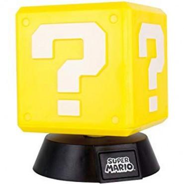 Nintendo Super Mario - Question Block 3D Light / LAMPA