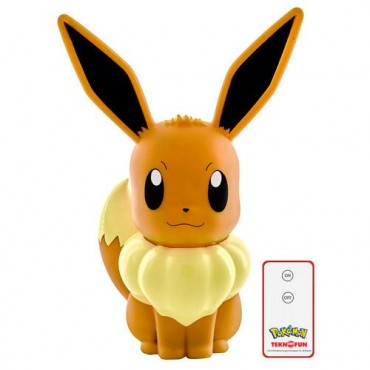 POKEMON EEVEE LED LAMPA AR PULTI