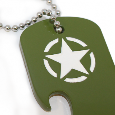 CALL OF DUTY WWII DOG TAG BOTTLE OPENER