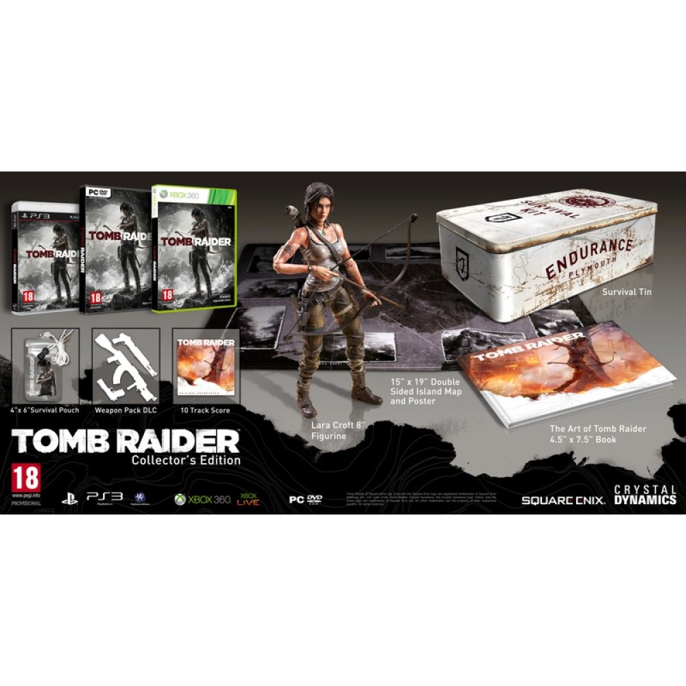 PS3 TOMB RAIDER COLLECTOR'S EDITION NEW SEALED!!!