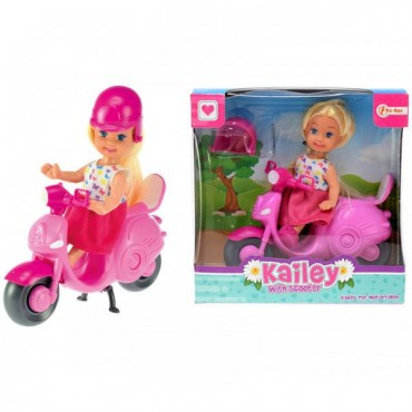 """Mini doll with scooter and helmet """"Cute Girl"""""""