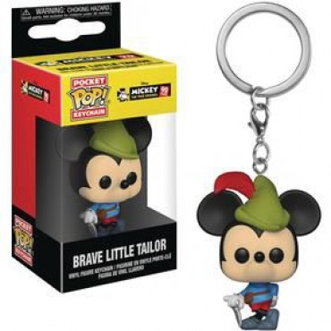 Pocket POP! Disney: Mickey 90th Anniversary - Brave Little Tailor Vinyl keychain / PIEKARIŅŠ