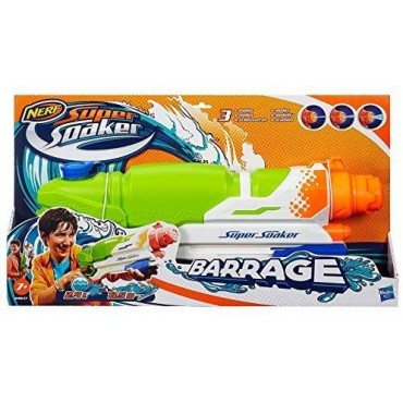NERF Super Soaker Toy Barrage Water Blaster Huge Capacity Gun ŪDENSPISTOLE