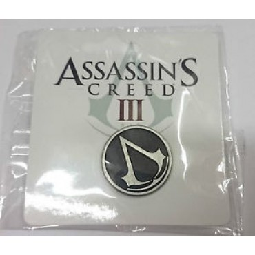 ASSASSIN'S CREED - METAL ROUND PIN WITH LOGO / NOZĪMĪTE