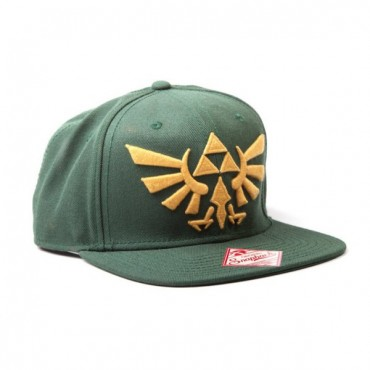ZELDA GREEN SNAP BACK WITH GOLDEN LOGO CAP