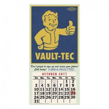 FALLOUT VAULT-TEC CALENDAR POSTER