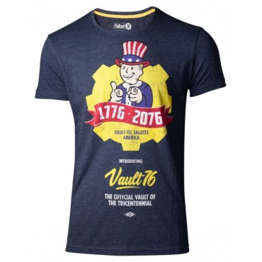 Fallout 76 - Vault 76 Poster Men's T-Shirt izmēri S, M, L, XL ,XXL