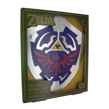 The Legend of Zelda - Hylian Shield Metal Wall Art / METĀLA SIENAS DEKORS