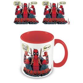 Pyramid Deadpool - 2 Thumbs Red Inner Mug