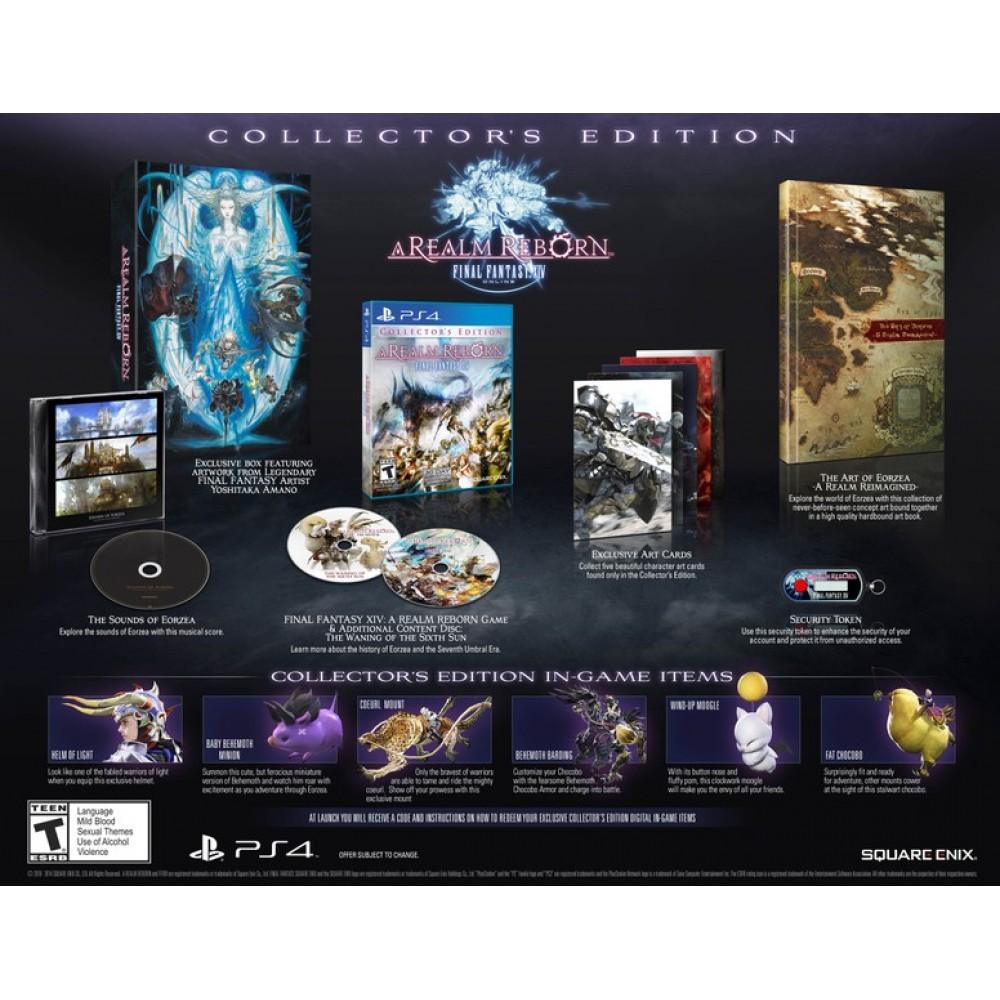 PS4 FINAL FANTASY XIV A REALM REBORN COLLECTORS EDITION