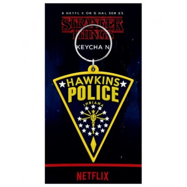 Pyramid Stranger Things - Hawkins Police Patch Rubber Keychain